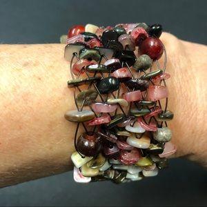 Jewelry - Woven bead bracelet.